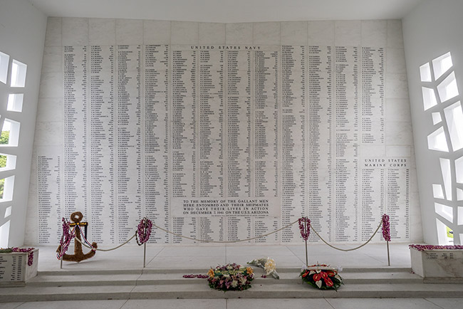 USS Arizona Memorial Wall