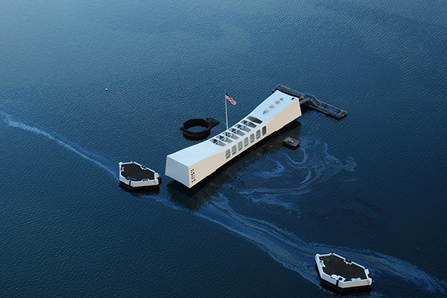 USS Arizona Memorial aerial