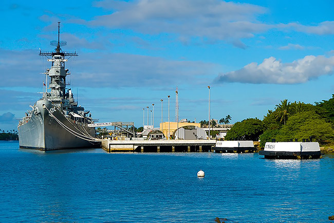 tour 3 - uss missouri slide
