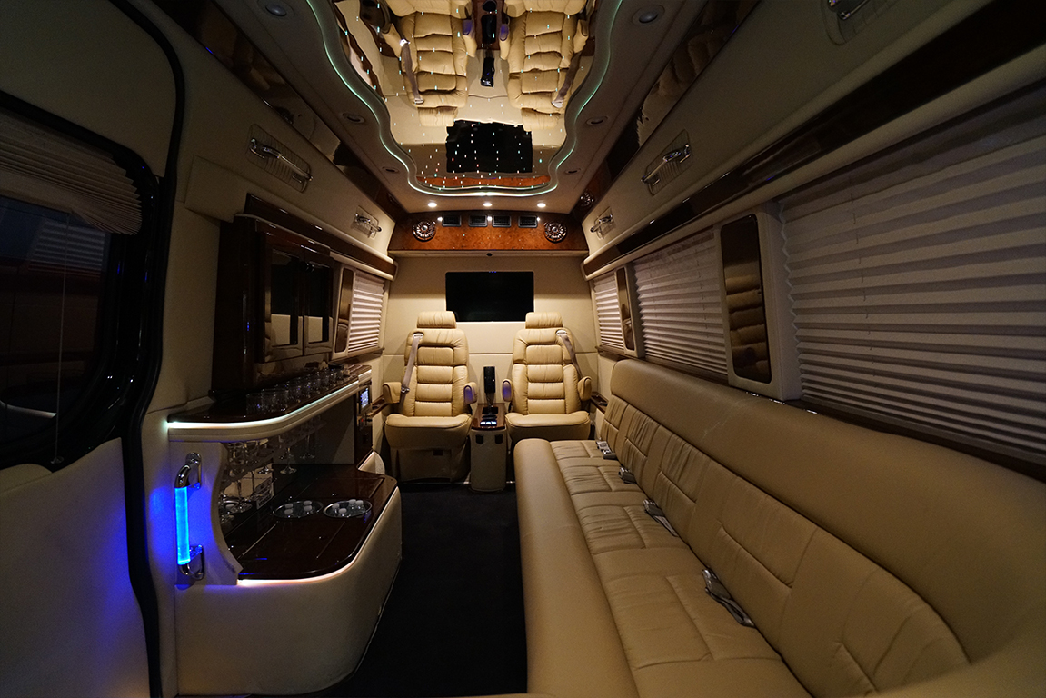 ultra luxury limousine bus