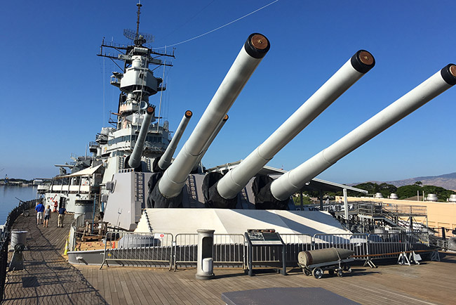 tour 3 - uss missouri guns slide